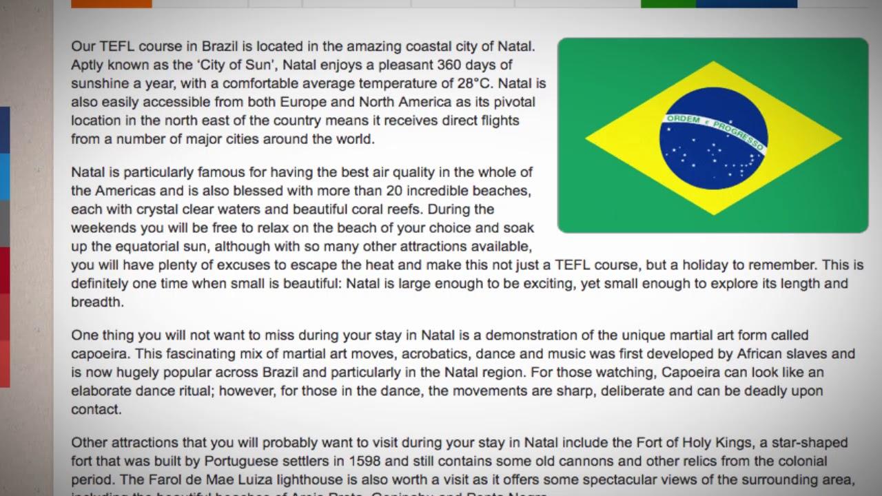 TEFL / TESOL Course in Natal, Brazil | Teach & Live abroad!