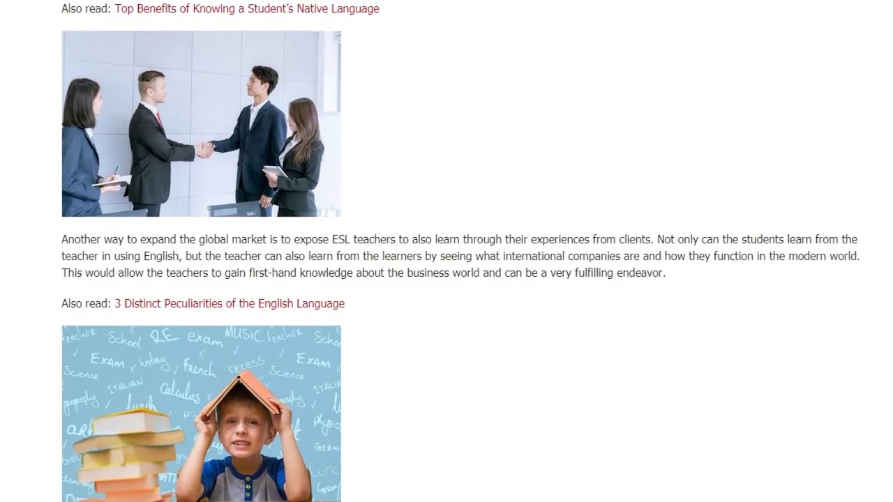 Business English: The Medium of Globalization | ITTT TEFL BLOG