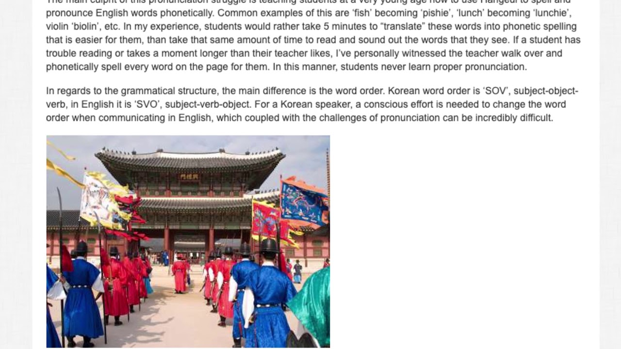 The Most Common Problems Students in South Korea Face When Learning English   ITTT TEFL BLOG