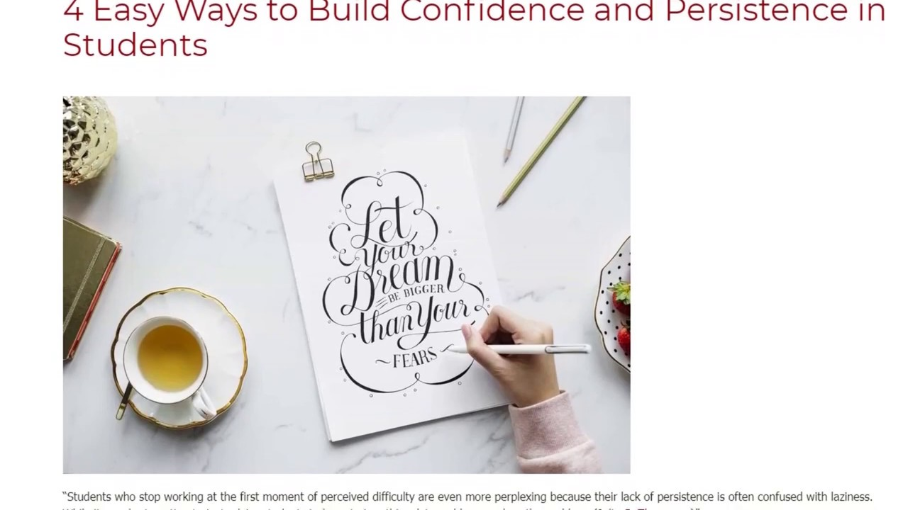 4 Easy Ways to Build Confidence and Persistence in Students | ITTT TEFL BLOG