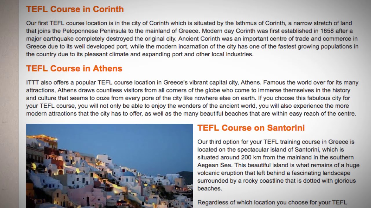 TEFL / TESOL Course in Greece | Teach & Live abroad!