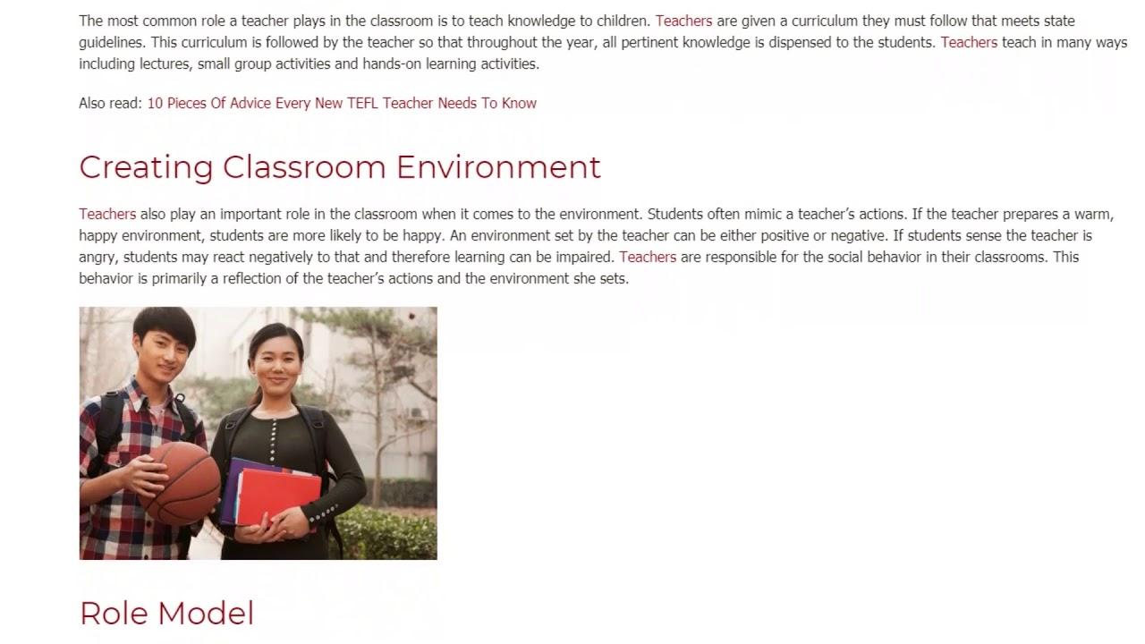 6 Essential Roles of an EFL Teacher   ITTT TEFL BLOG