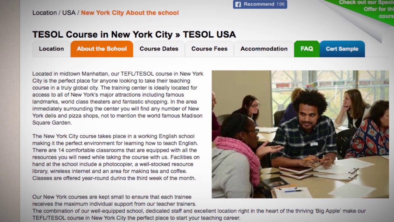 Welcome to Our TEFL / TESOL School in New York, USA | Teach & Live abroad!