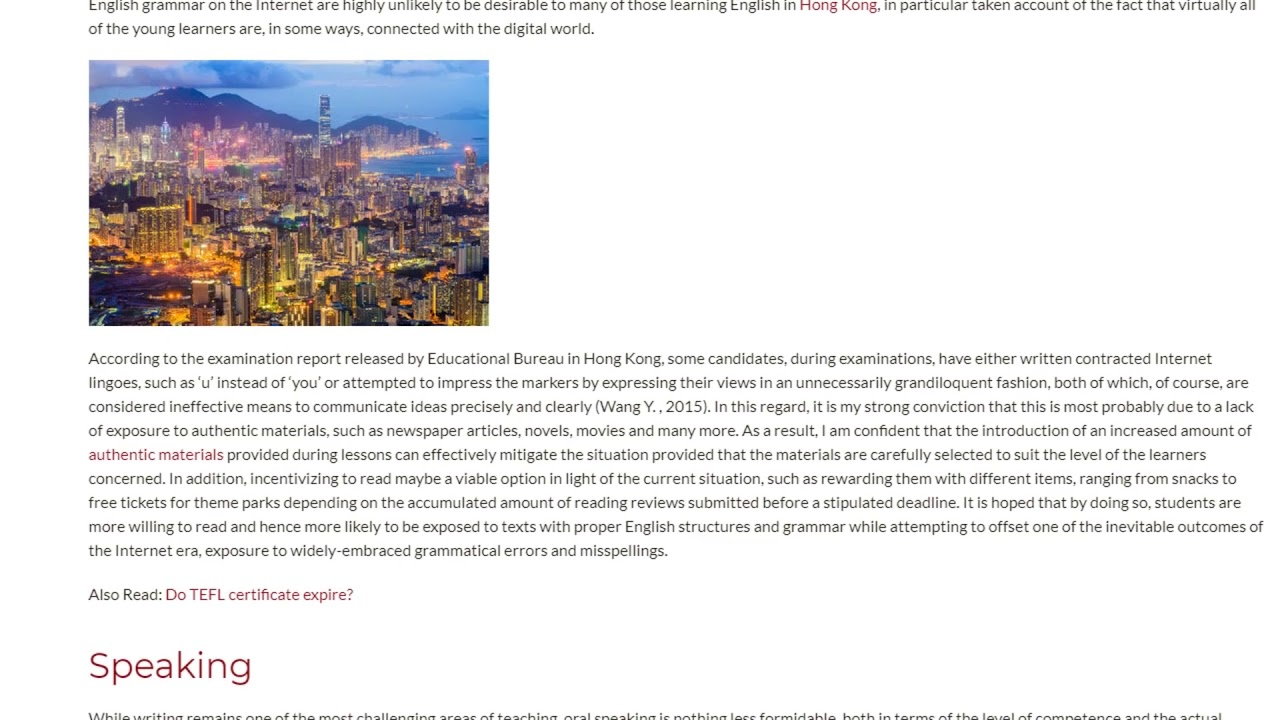 Two Main Problems For English Learners in Hong Kong | ITTT TEFL BLOG