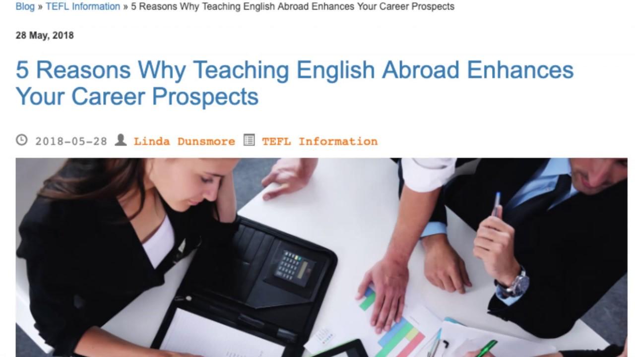 5 Reasons Why Teaching English Abroad Enhances Your Career Prospects | ITTT TEFL BLOG