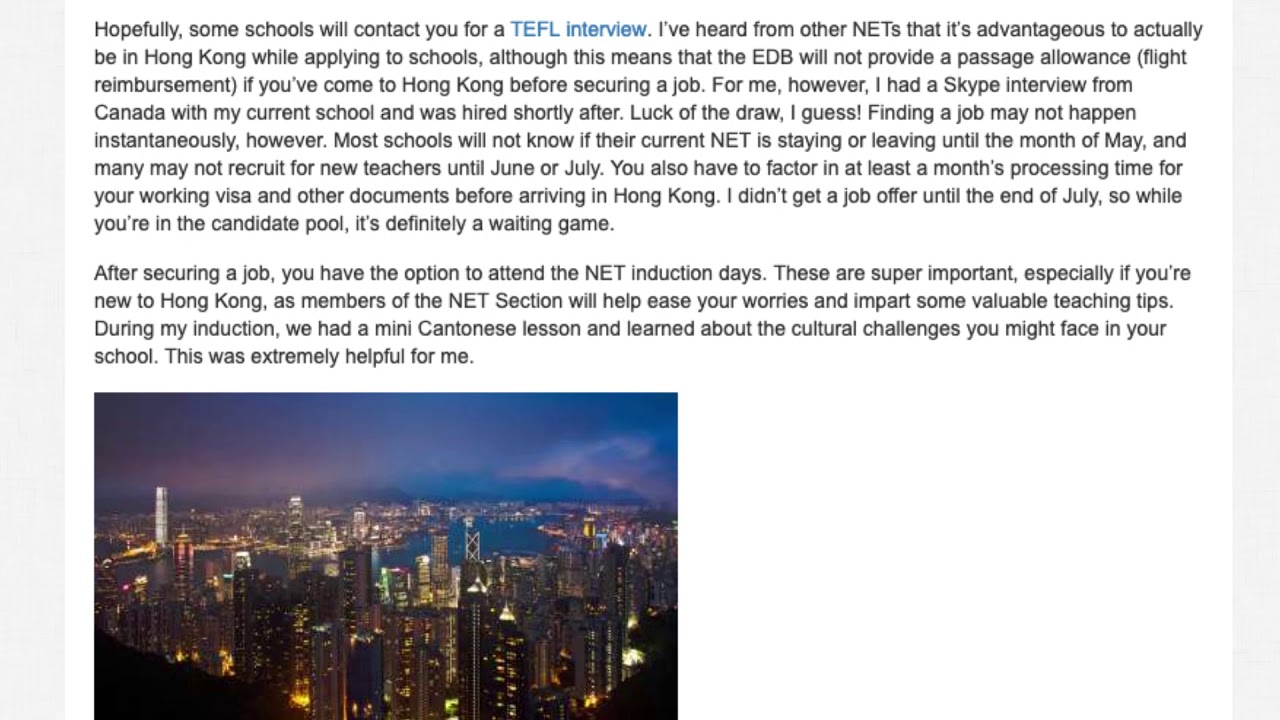 NET Scheme for Teaching English in Hong Kong – How it Works and How to Apply | ITTT TEFL BLOG