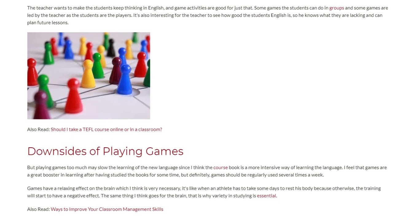 Playing Games in the Classroom to Create a Friendly Atmosphere | ITTT TEFL BLOG