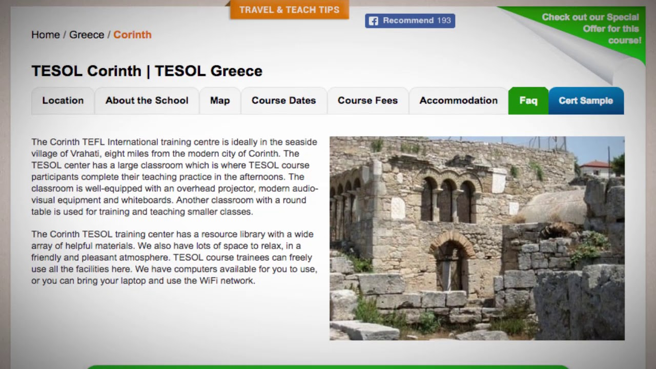 Welcome to Our TESOL School in Corinth, Greece | Teach & Live abroad!