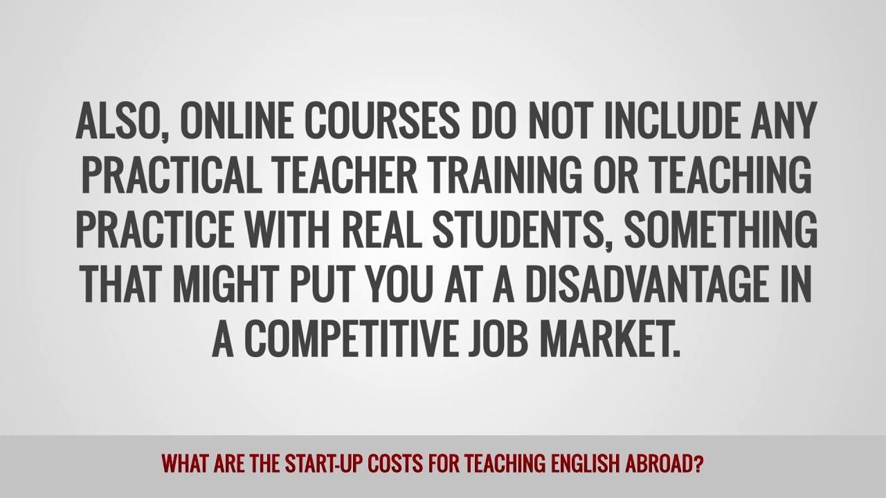 ITTT FAQs – What are the start up costs for teaching English abroad?