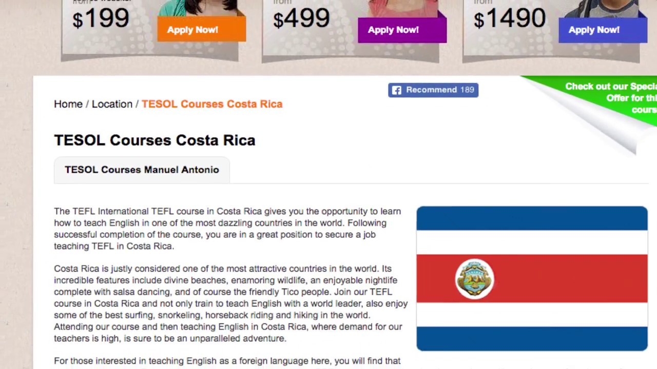 TESOL Course in Costa Rica | Teach & Live abroad!