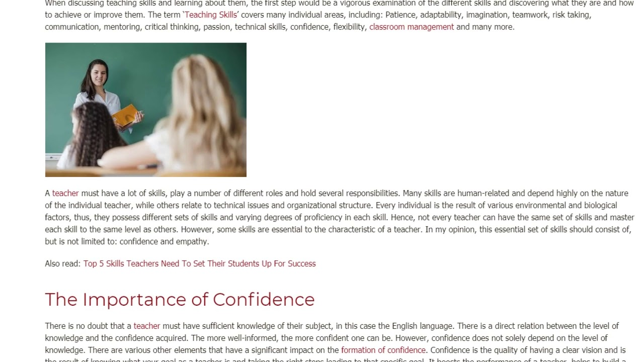 Are Confidence and Empathy the Most Important Skills When Teaching English | ITTT TEFL BLOG
