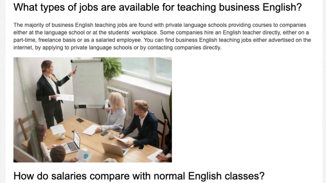 7 Important Questions about Business English | ITTT | TEFL Blog