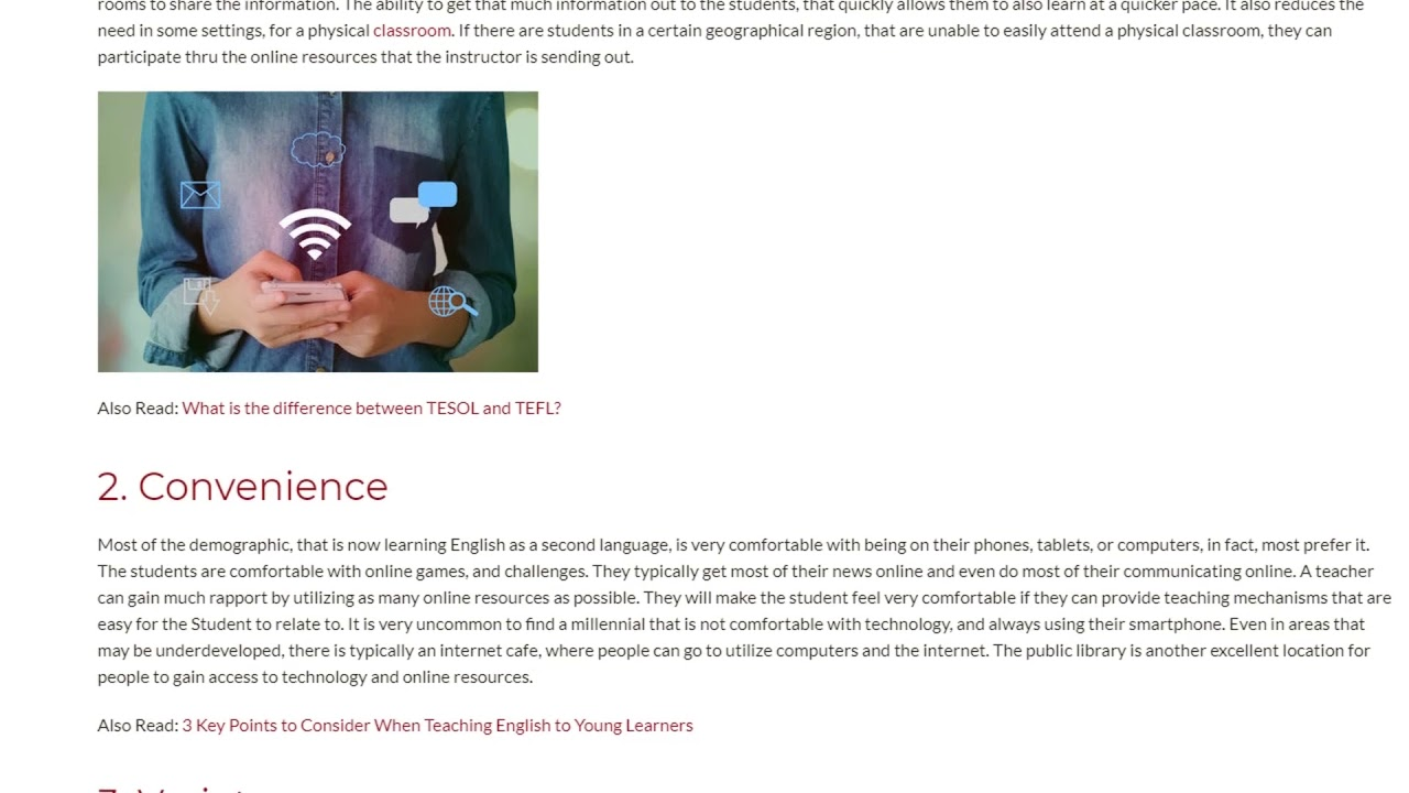 3 Benefits of Using Online Teaching Resources | ITTT TEFL BLOG