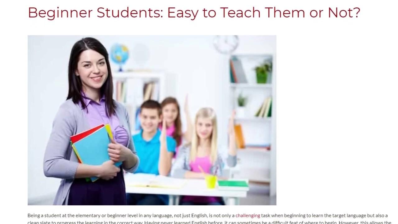 Beginner Students: Easy to Teach Them or Not? | ITTT TEFL BLOG