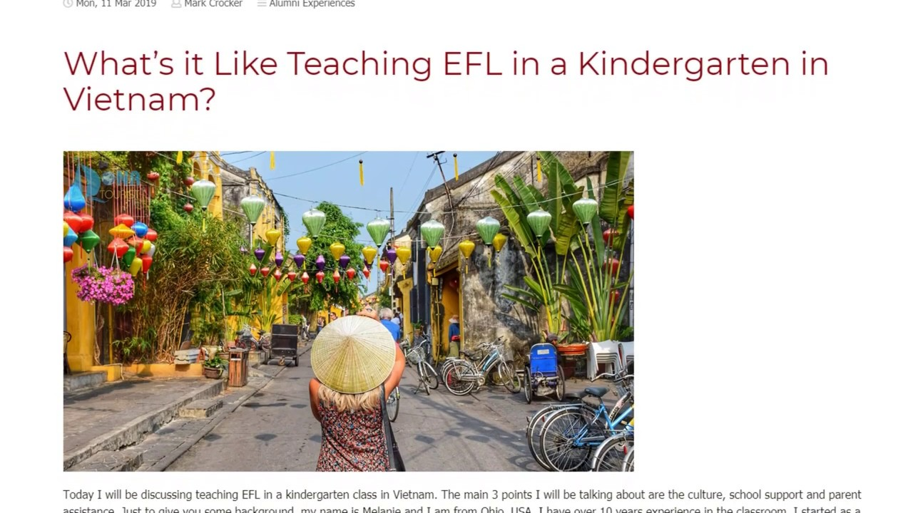 What's it Like Teaching EFL in a Kindergarten in Vietnam | ITTT TEFL BLOG