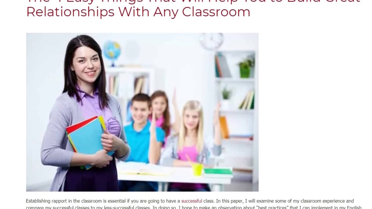 The 4 Easy Things That Will Help You to Build Great Relationships In Any Classroom   ITTT TEFL BLOG