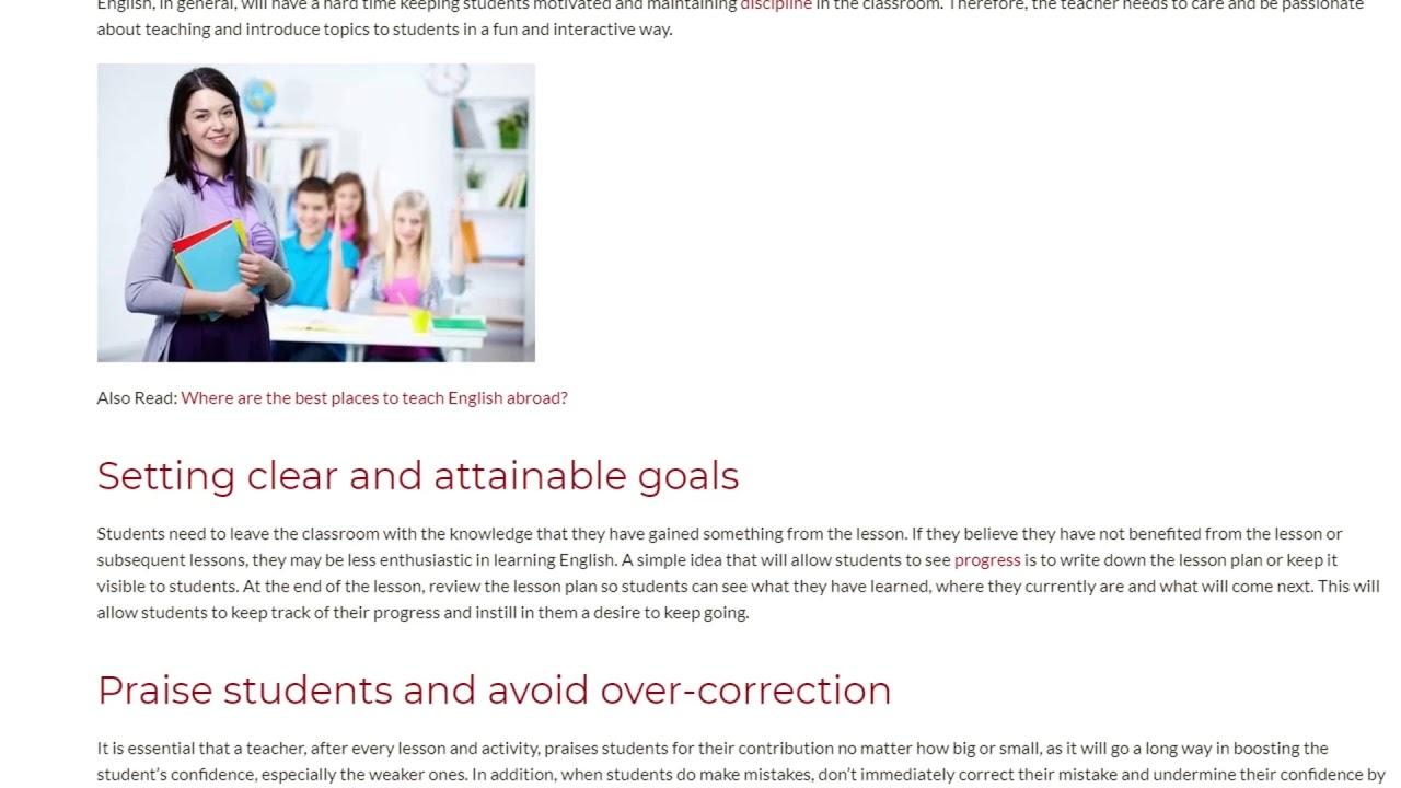 Teacher's Motivation Strategies   ITTT TEFL BLOG