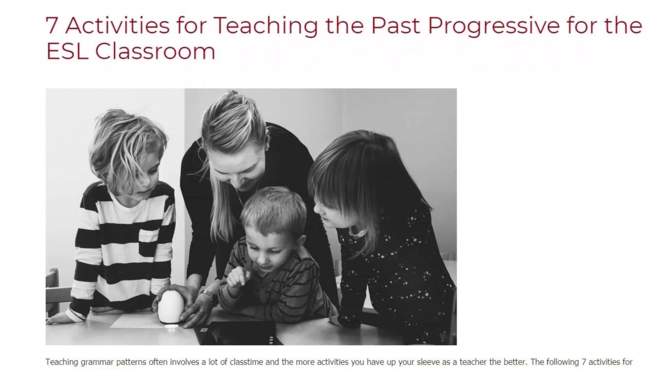 7 Activities for Teaching the Past Progressive for the ESL Classroom   ITTT TEFL BLOG