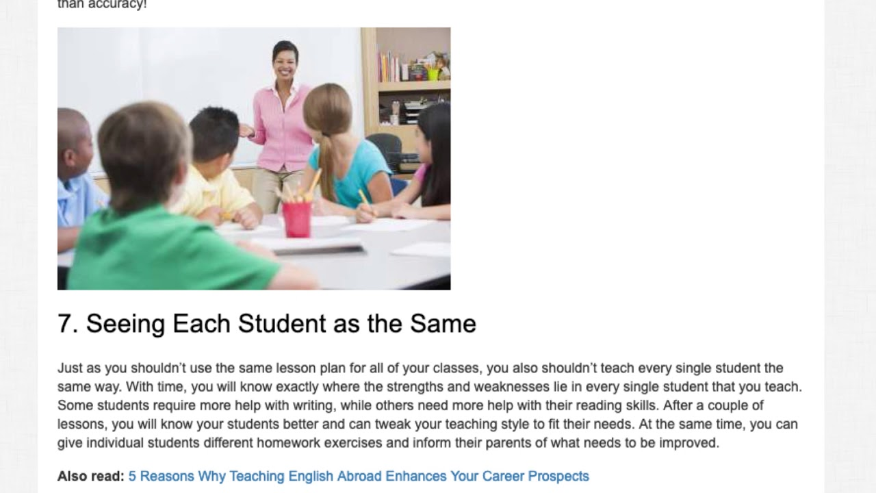Top 10 Mistakes to Avoid in the Classroom While Teaching English Abroad   ITTT TEFL BLOG