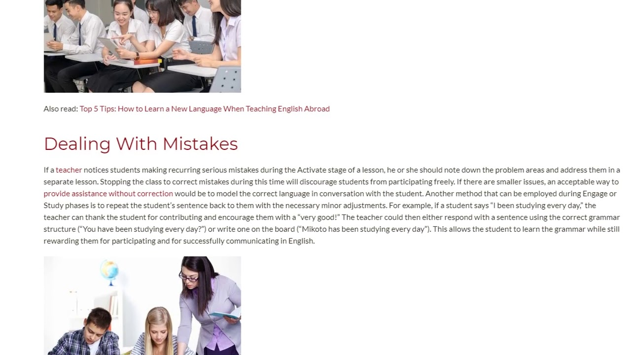 Feeling Comfortable Making Mistakes Can Really Help a Student's Language Learning | ITTT TEFL BLOG