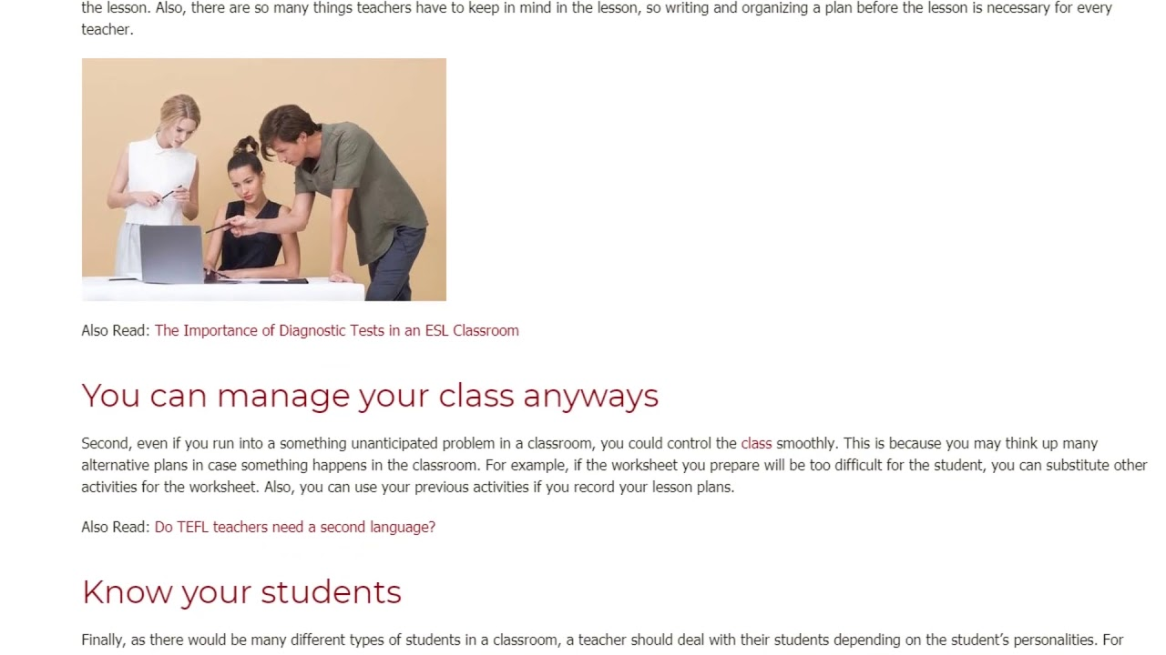 How to Get Ready for Unforeseen Circumstances in The Classroom | ITTT TEFL BLOG