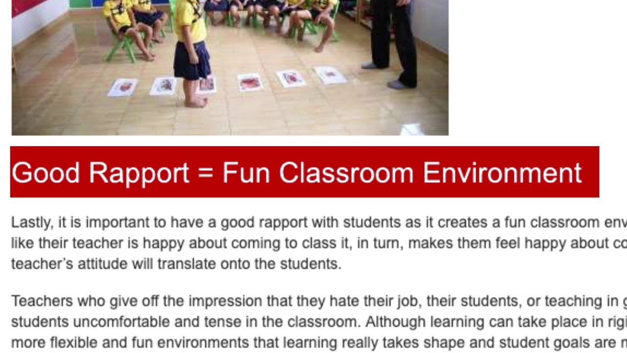 Strategies for Building Rapport with Students – Building Student Rapport | ITTT TEFL BLOG