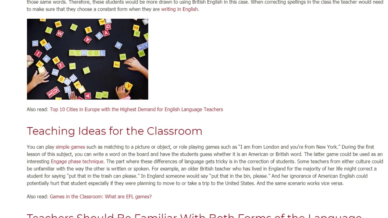 The Differences Between British English and American English, and How to Teach It   ITTT TEFL BLOG