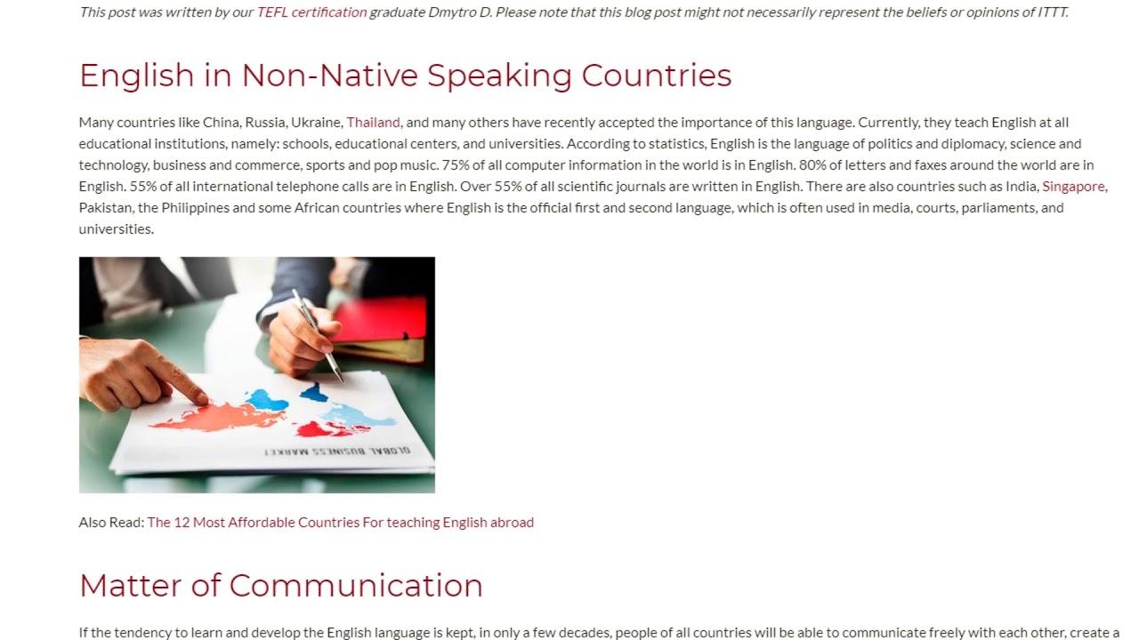 English in Global World | ITTT TEFL BLOG