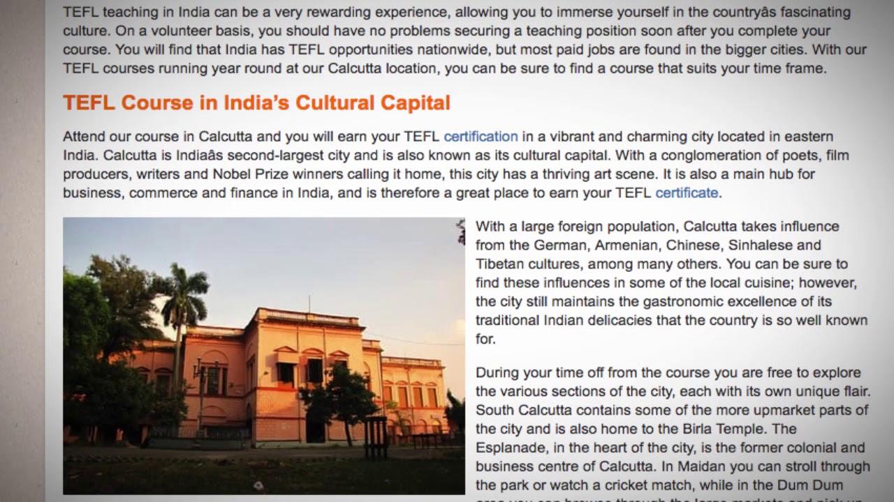 TEFL / TESOL Course in India | Teach & Live abroad!