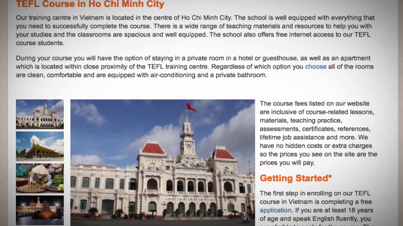 TEFL / TESOL Course in Ho Chi Minh, Vietnam | Teach & Live abroad!