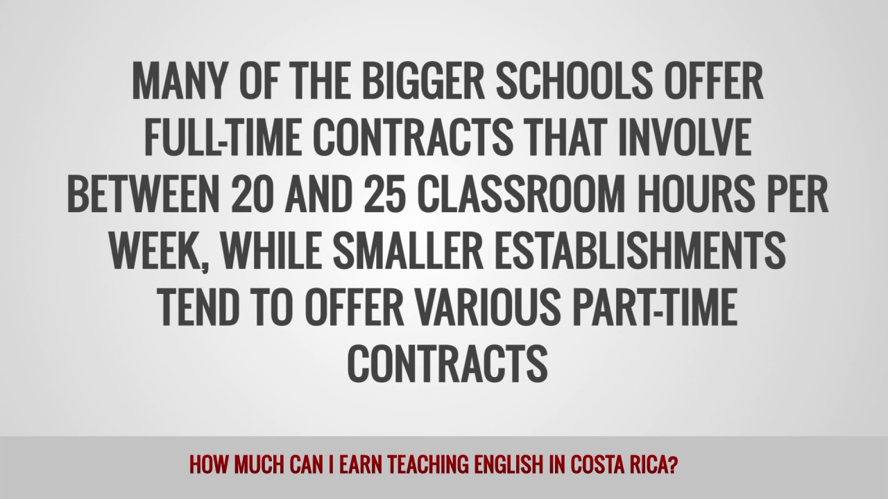 ITTT FAQs – How much can I earn teaching English in Costa Rica?