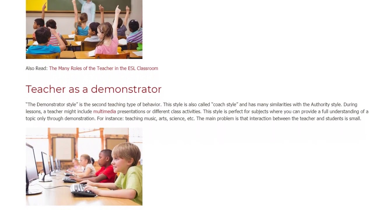 The 5 Main Types of Teaching Styles   ITTT   TEFL Blog