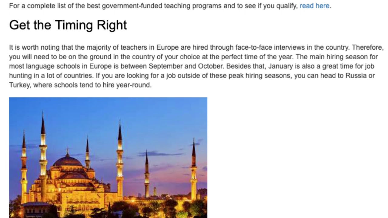 The How To Guide for Americans to Teach English in Europe | ITTT TEFL BLOG