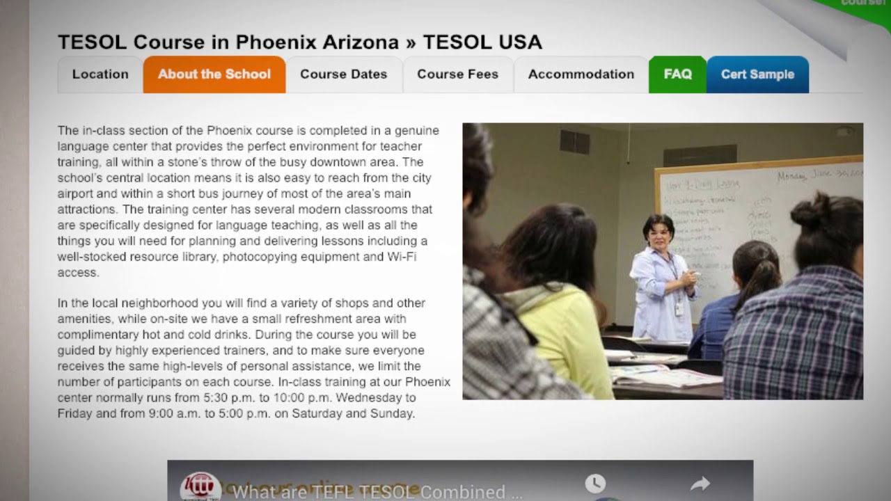 Welcome to Our TEFL / TESOL School in Phoenix, USA | Teach & Live abroad!