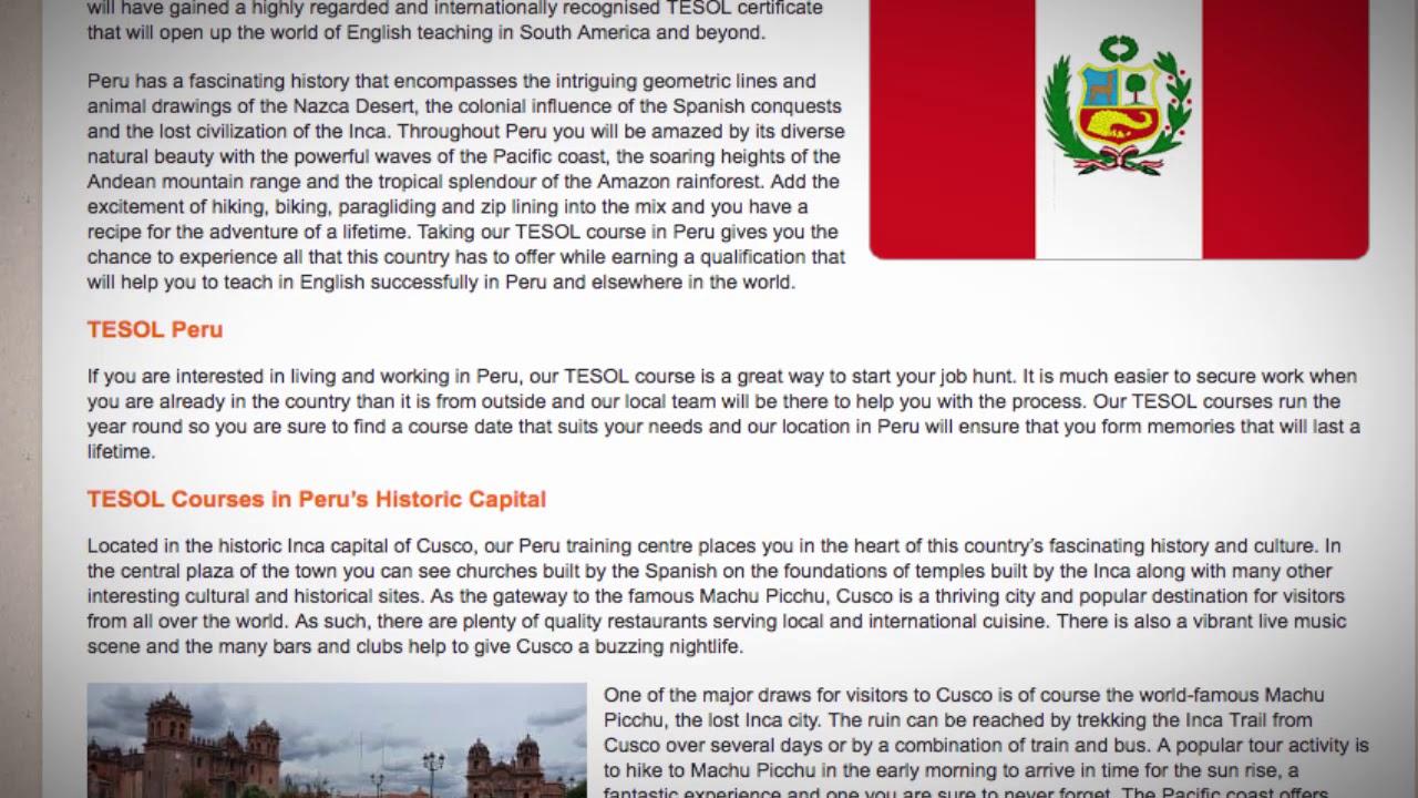 TESOL Course in Peru | Teach & Live abroad!
