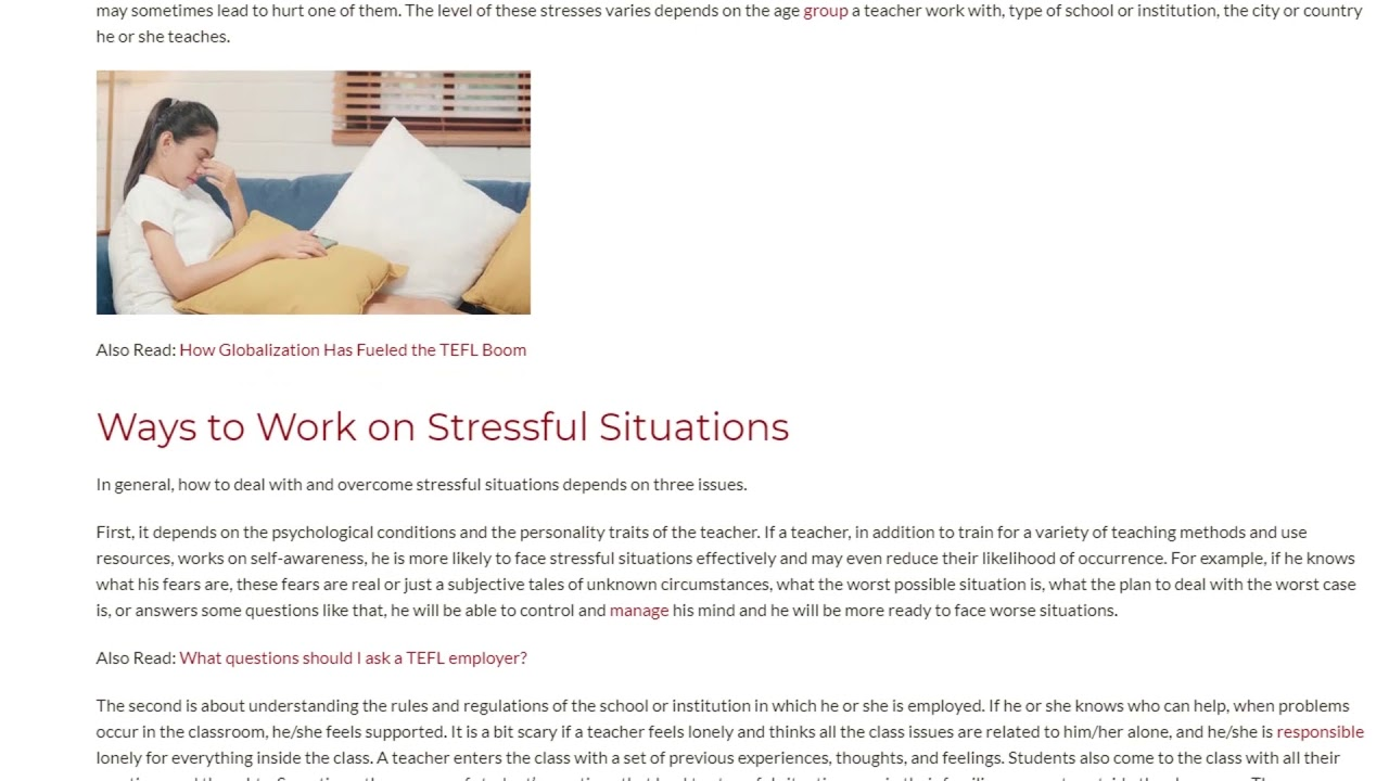 3 Ways to Overcome Stressful Situations | ITTT TEFL BLOG