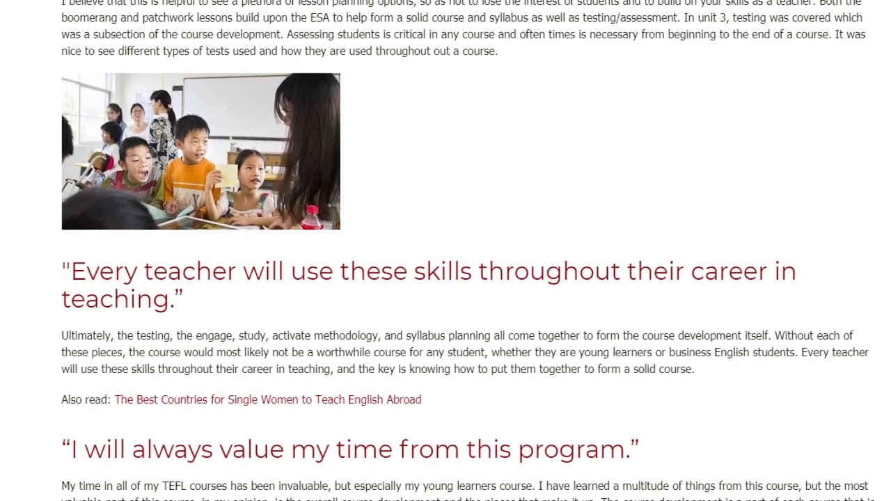 This is the Best Thing I've Learned from my TESOL Course | ITTT TEFL BLOG