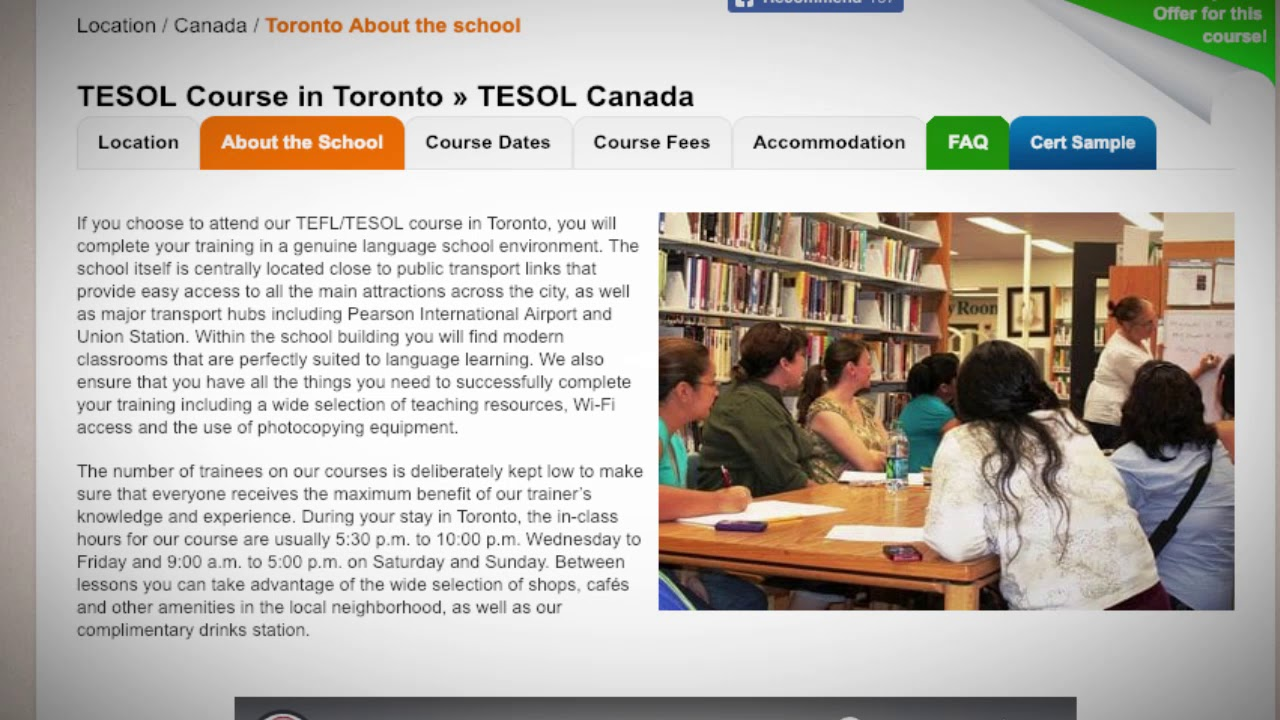 Welcome to Our TEFL / TESOL School in Toronto, Canada | Teach & Live abroad!