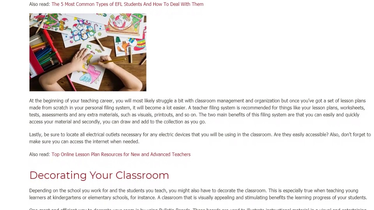 How to Set Up Your EFL Classroom the Right Way | ITTT TEFL BLOG