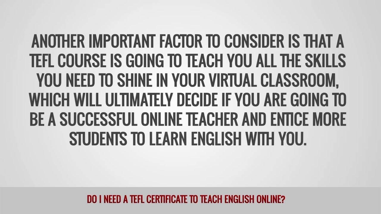 ITTT FAQs – Do I need a TEFL certificate to teach English online?