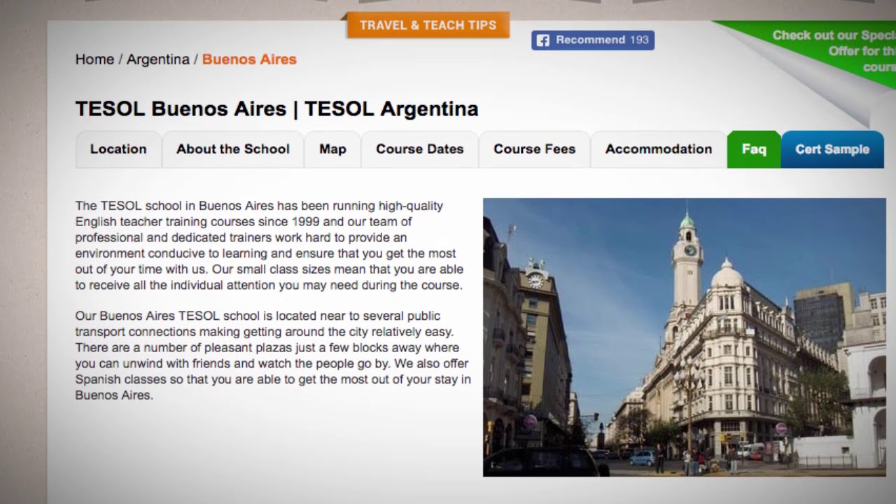 Welcome to Our TESOL School in Buenos Aires, Argentina | Teach & Live abroad!