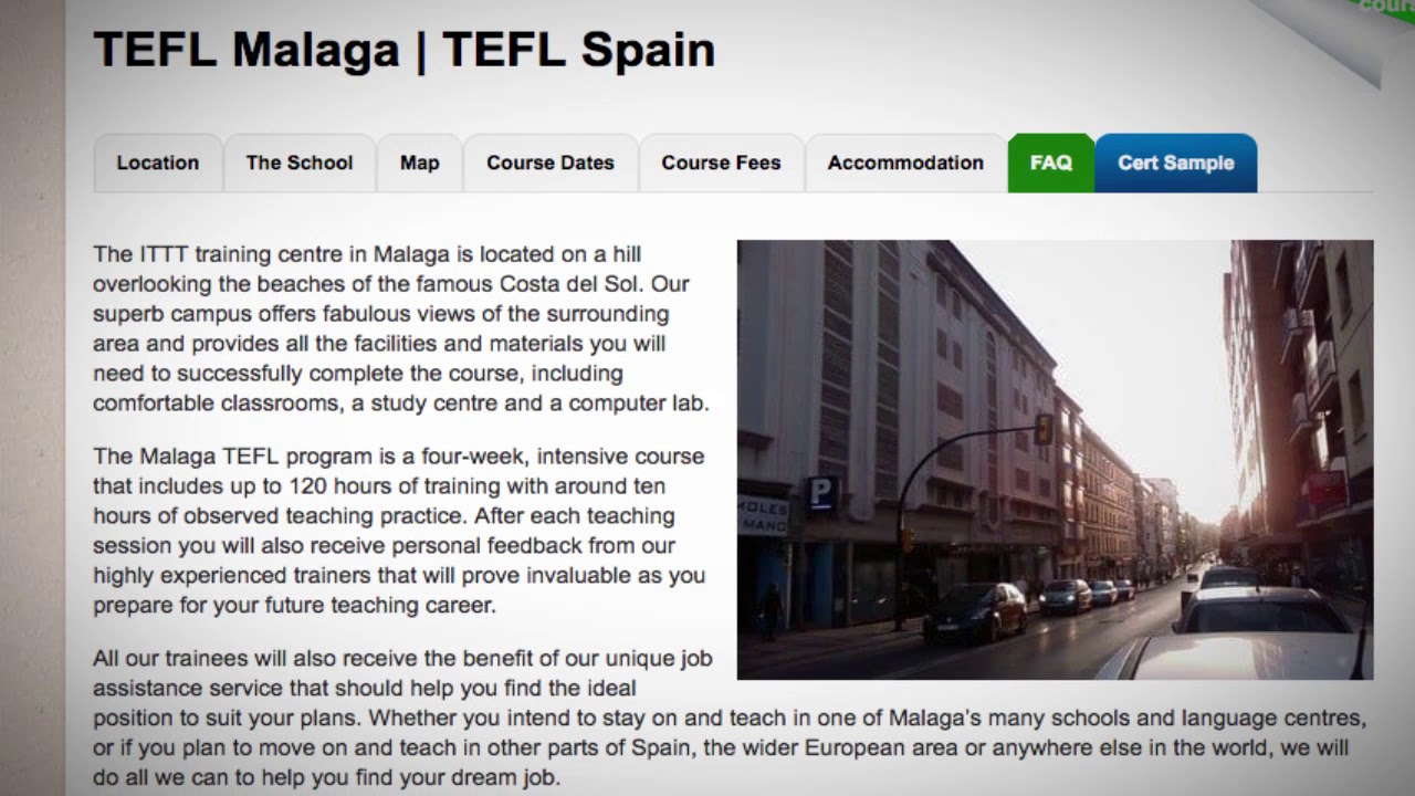 Welcome to Our TEFL / TESOL School in Malaga, Spain | Teach & Live abroad!