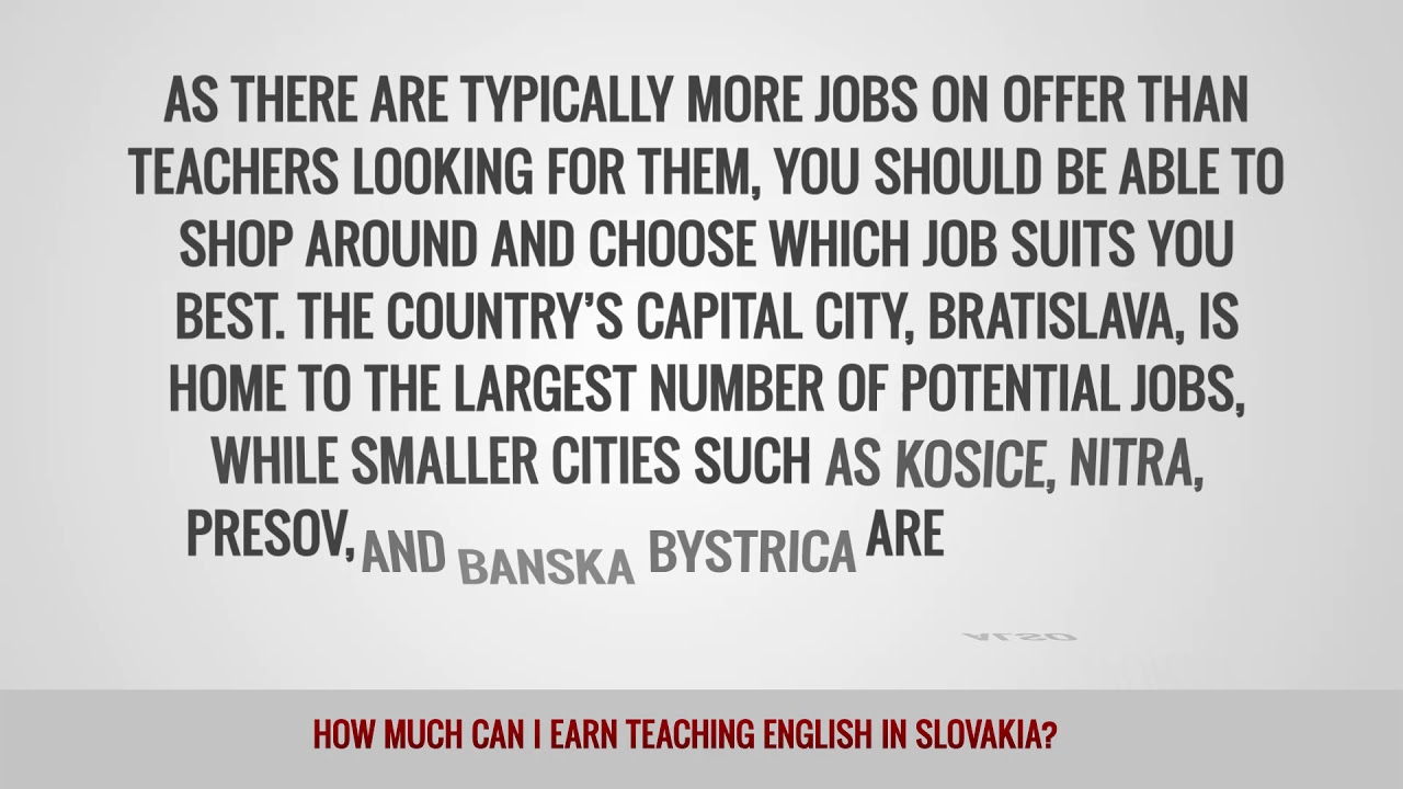 ITTT FAQs – How much can I earn teaching English in Slovakia