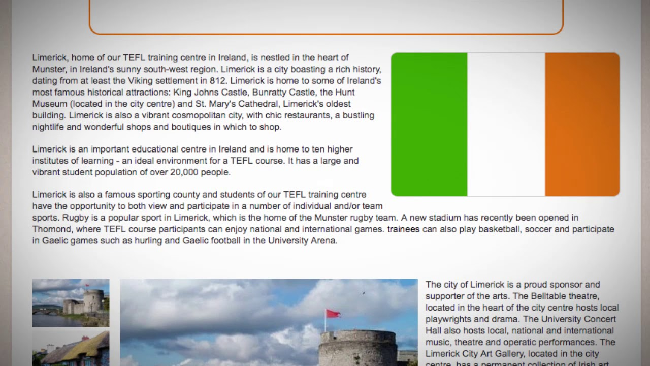 TESOL Course in Limerick, Ireland | Teach & Live abroad!