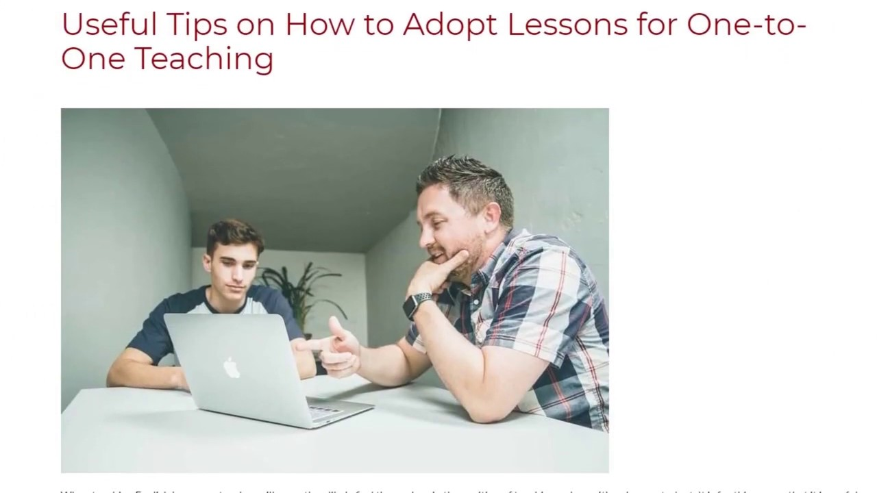 Useful Tips on How to Adopt Lessons for One-to-One Teaching | ITTT TEFL BLOG