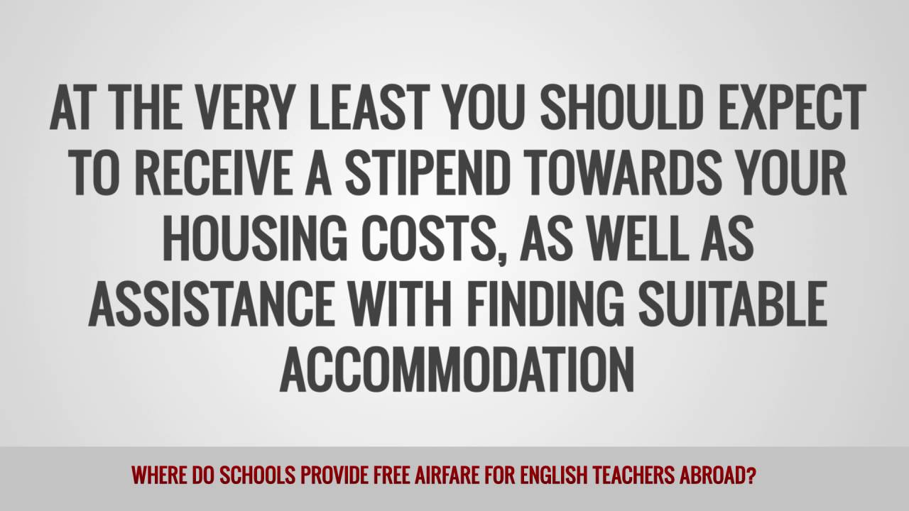ITTT FAQs – Where do schools provide free airfare for English teachers abroad?