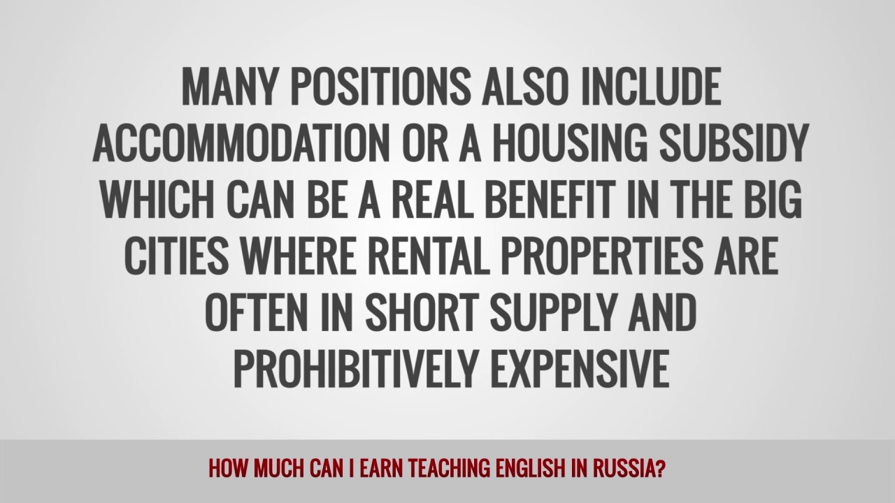 ITTT FAQs – How much can I earn teaching English in Russia?