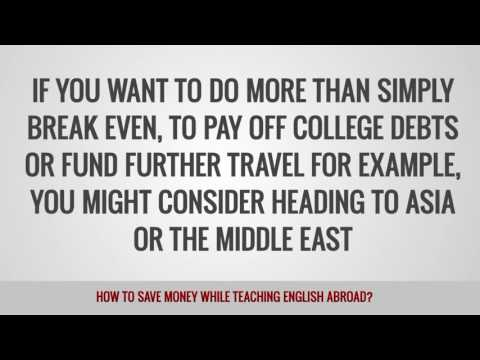ITTT FAQs – How to save money while teaching English abroad
