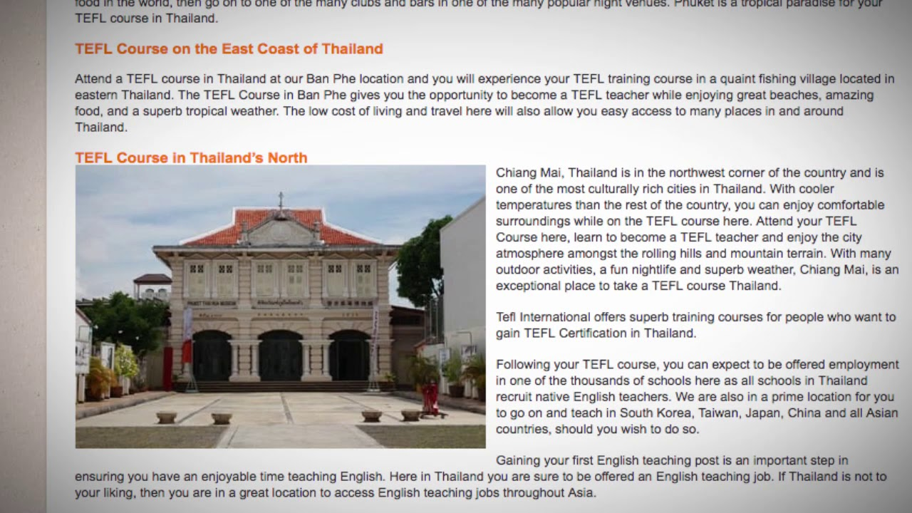 TESOL Course in Thailand | Teach & Live abroad!