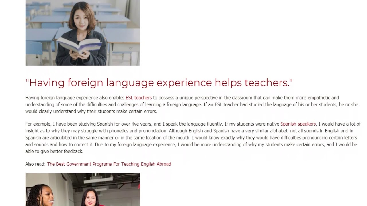 Why Having Foreign Language Experience Makes You a Better Teacher | ITTT TEFL BLOG